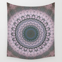 Boho Pink Wall Tapestry by Jane Lacey Smith