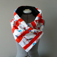 Dr. Seuss Cat In the Hat Thing 1 Thing 2 Unisex Scarf Neck Warmer