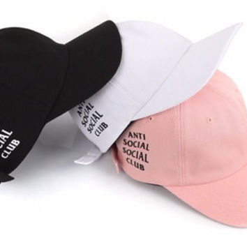 55a98bf1400 Tumblr Baseball Cap antisocial social from NastyTees on Etsy