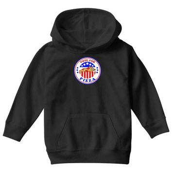 vote for pizza president democrat Youth Hoodie