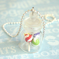 lollipops in a jar necklace
