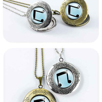 My little pony DJ-pon3 cutie mark MLP vintage pendant locket necklace - ready for gifting - buy 3 get 4th one free