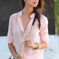 Pink Linen Soft Blouse