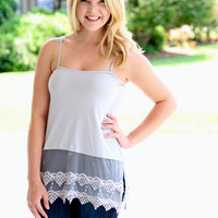 Lace Tunic Extender - Grey