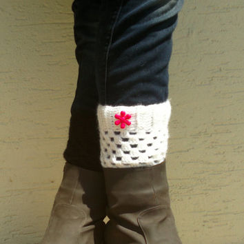 Crochet boot cuffs, boot socks, boot  toppers, pick your colors, fall fashion, valentines gift, short leg warmers, womens leg warmers