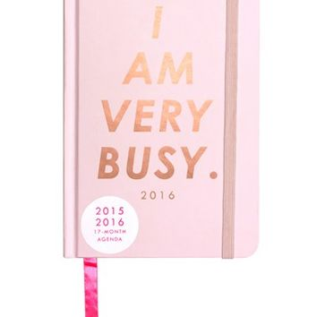 ban.do 'Classic - I Am Very Busy' Hardcover17-Month Agenda - Pink