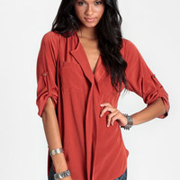 Sixth Sense Collared Blouse - $34.00 : ThreadSence, Women's Indie & Bohemian Clothing, Dresses, & Accessories