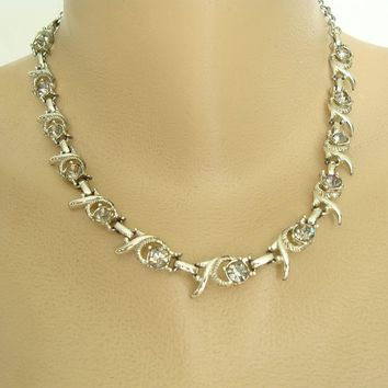 Sara Coventy COOL SURRENDER Rhinestone Necklace 1960s Vintage Jewelry
