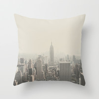 NEW YORK CITY Throw Pillow by Shilpa