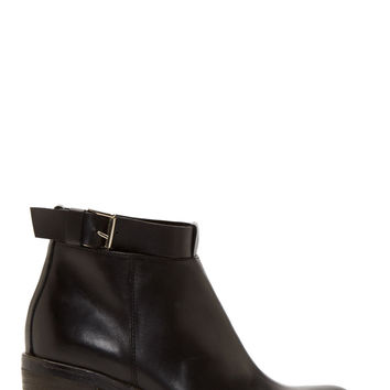 Studio Pollini Black Leather Ankle Boots