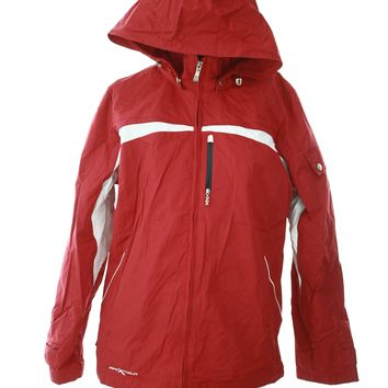 Zero Xposure womens jacket skit coat red hooded thick snowboarding medium