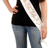 "bride to be satin sash - 33"" x 4"" Case of 6"