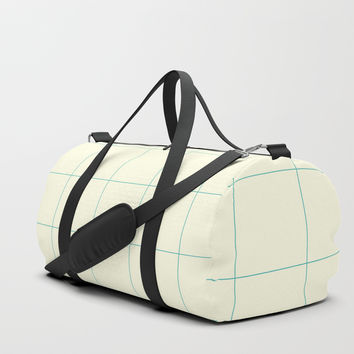 Minimalist Grid Pattern with Space and Lines Duffle Bag by spaceandlines
