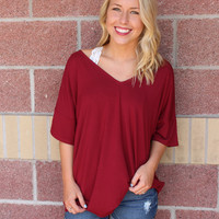 Piko v-neck short sleeve top w/ loose sleeves-more colors