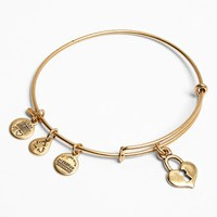 Women's Alex and Ani 'Key to My Heart' Expandable Wire Bangle - Russian