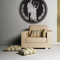 Vinyl Wall Decal Sticker Greek Harp Art #OS_DC703