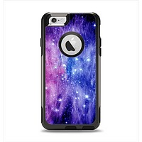 The Purple and Blue Scattered Stars Apple iPhone 6 Otterbox Commuter Case Skin Set