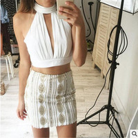 Summer Comfortable Stylish Bralette Beach Hot Chiffon Sexy Lace Crop Top Tops Vest [9176275268]