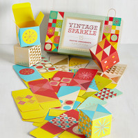 Vintage Inspired Vintage Sparkle DIY Ornament Kit by Chronicle Books from ModCloth