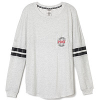 Long Sleeve Varsity Tee - PINK - Victoria's Secret