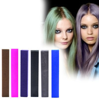 GEISHA | A pack of 6 Hair Chalks for your highly vibrant hair coloring - chocolate, hot pink, indigo, black, grey & dark blue!