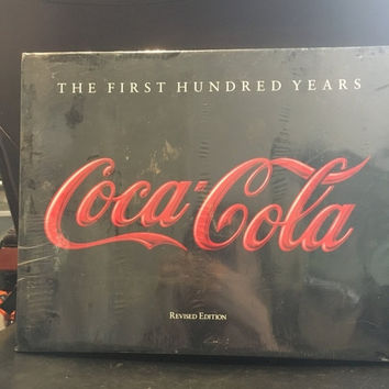 "5 DAY SALE (Ends Soon) Vintage Book Non Fiction ""The First Hundred Years Coca Cola"" Hardcover Large Book"