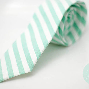 lucite green slim tie for smart groomsmen,green neck-tie, white stripe, mint, green theme wedding, mint accessory decoration, groomsmen,men