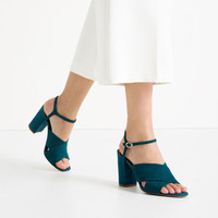 CROSSOVER SUEDE SANDALS - View all-SHOES-WOMAN | ZARA United States