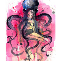 Hugs Giclee Print by Lora Zombie at Art.com