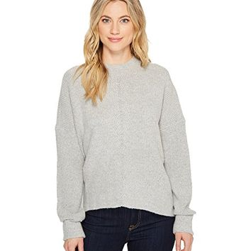 ROMEO & JULIET COUTURE Mock Neck Drop Shoulder Sweater