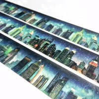 cityscape Skyline Washi Tape 10M x 2 cm City scenes city landscape city scenes masking tape skyscraper city view tall buildings sticker tape