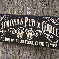 Personalized Beer Sign, Brewery Sign, Personalized Pub Sign, Personalized Beer Sign, Benchmark Custom Signs Maple RG