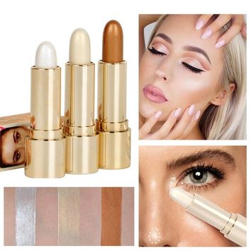 Highlight Shimmer Stick Glitter Eyeshadow Eye shadow Pen Eyes Face Makeup Stick Long Lasting Skin Concealer Beauty Cosmetic Tool