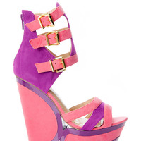 Buckled Two Tone Wedges