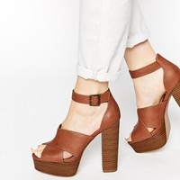 New Look Pool Stack Platform Heeled Sandals