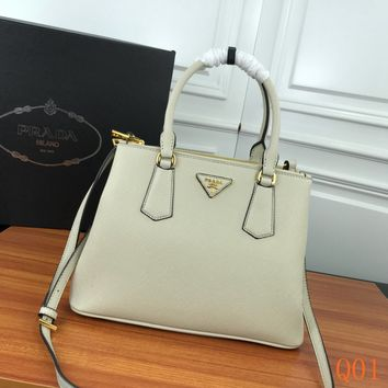 HCXX 19Aug 1009 Prada 1BA232 Leather Fashion Kell Bag Casual Tote Shoulder Qulited Bag 33-17-24cm