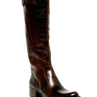 Roxie Knee-High Leather Wide Calf Boot