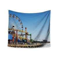 """Pier Views"" Ocean Rides Walk Trendy Boho Wall Tapestry"