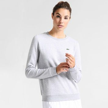 Women's Lacoste Fashion Casual Long Sleeve Top Sweater Pullover