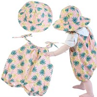 Summer Fashion Baby Rompers Baby Sun Hat Toddler Romper Infant Sling Romper Baby Clothes Baby Jumpsuits for Boys Girls
