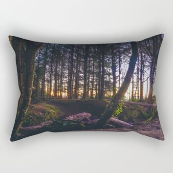 Wooded Tofino Rectangular Pillow by Mixed Imagery