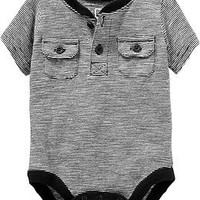 Henley Bodysuits for Baby