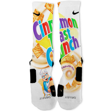 Cinnamon Toast Crunch Custom Nike Elite Socks