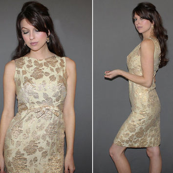 Shop Metallic Brocade Dress On Wanelo
