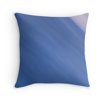 'Blue Gradient Diagonals Abstract' Throw Pillow by galerie503