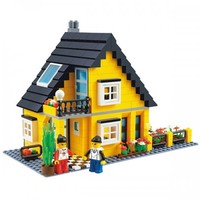 Cute Yellow Cottage - Lego Compatible