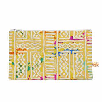 "Dan Sekanwagi ""Lines And Zigzags - Colorful"" Yellow Tribal Everything Bag"