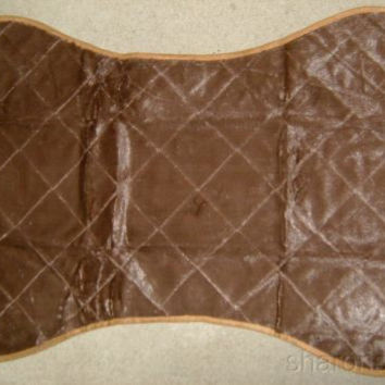 """That Dog Gone Mat Bed Car Crate Kennel Couch Protector Brown Pet Bone 41"""" 32574"""