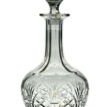 Port or Sherry Wine Cut Glass Decanter, Vintage English