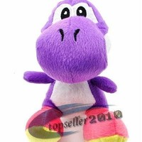 "Purple Yoshi Plush Doll Approx 6"" Tall"